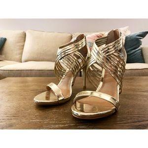 Steve Madden Gold Strappy Heels